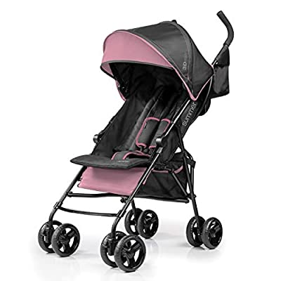Summer 3Dmini Convenience Stroller, Pink – Lightweight Infant Stroller with Compact Fold, Multi-Position Recline, Canopy with Pop Out Sun Visor and More – Umbrella Stroller for Travel and More by AmazonUs/SUMXV