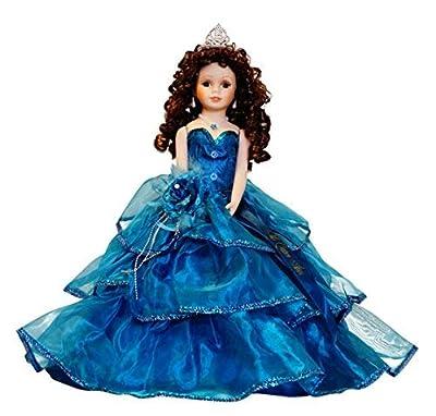 "18"" Porcelain Quinceanera Umbrella Doll (Table Centerpiece)~ Teal ~ KB18724-19B"