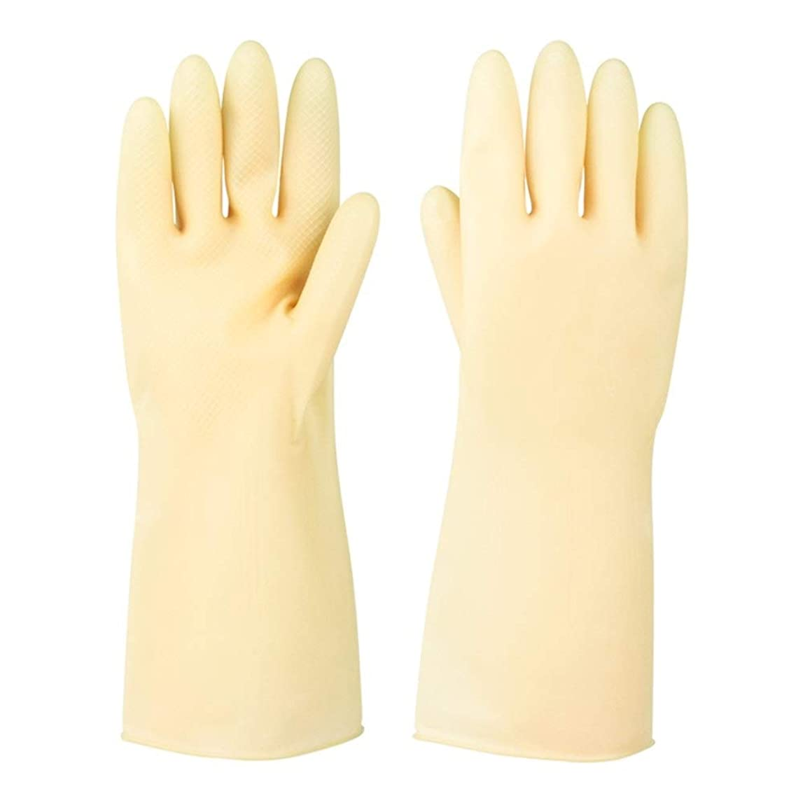 不名誉な馬力伝染性のニトリルゴム手袋 ラバーレザーグローブ厚めの滑り止め耐摩耗性防水保護手袋、5ペア 使い捨て手袋 (Color : 5 pair, Size : S)