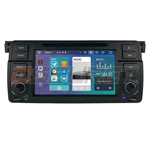 Android 10 Car GPS Navigation Bluetooth 1 DIN Vehículo estéreo con Pantalla táctil de 7 Pulgadas para BMW E46 Soporte Mirror Link Radio WiFi / 4G Control del Volante
