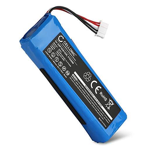 CELLONIC® Qualitäts Akku kompatibel mit JBL Charge 2, Charge 2 Plus/Charge 2+, Charge 3 (2015) - P763098,GSP1029102R (6000mAh) Ersatzakku Batterie