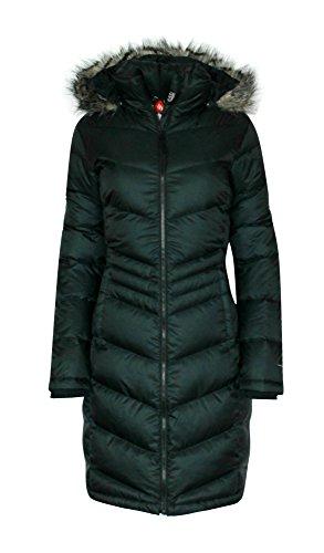 Columbia Womens Polar Freeze Long Down Jacket Omni Heat Black Winter Coat (Small)