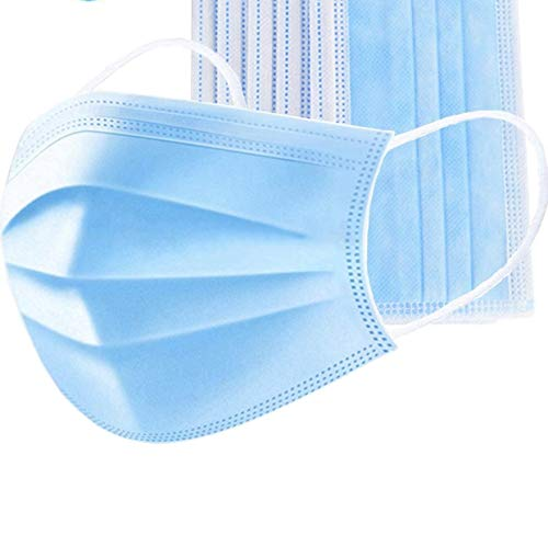 Aurotek Mask Mascarilla Facial con 3 capas de protección, gran calidad, producto en stock en España, Azul, Estandar Unisex Unisex Adulto