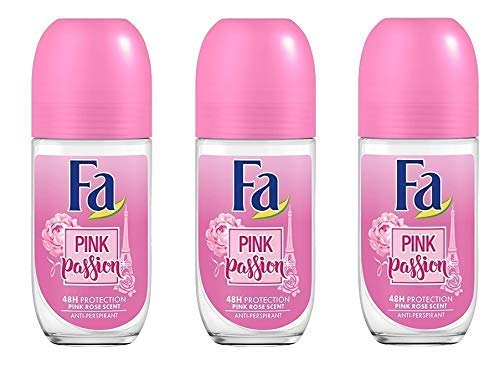 Fa Deodorant 1.7 Ounce Roll-On Pink Passion (50ml) (3 Pack)
