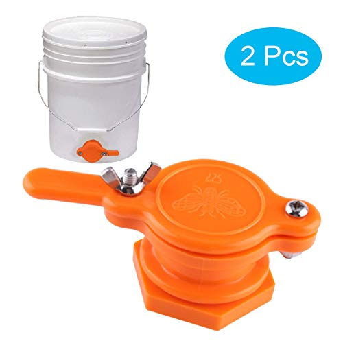 2 Pcs Honey Extractor, Honey Gate Valve, Honey Tap, Reusable Honey Extractor Tap, Honey Bottling Tools for Beekeeping Supplies (Orange)