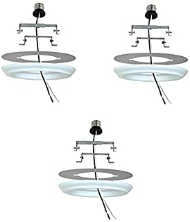 Recessed Light Converter 4 inch and 6 Inch - Finished White Ivory (3 Pack)