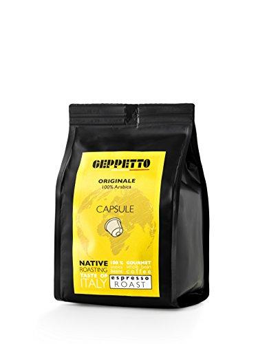 GEPPETTO Miscela Tradizionale 80% Robusta – 20% Arabica Kaffeekapseln, italienischer Caffè, Nespresso® kompatible Kaffeekapseln (120 Kapseln)