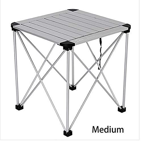 LLZY Campingtisch 70x70cm mobiler 2-4 Mann Aluminium Tisch wasserfester Roll-Up Gartentisch von Outdoor Equipment