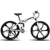 Dapang Bicicleta de montaña de Doble suspensión Completa, con Ruedas de 26 Pulgadas/Cuadro de Aluminio con Frenos de Disco, transmisión Shimano de 27 velocidades, en Varios Colores,1,24Speed