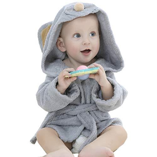 Albornoz de baño niños niñas chicos toalla de baño bebé toalla de baño con capucha Poncho vestido en algodón, Wearable dulce secado Mignon Animal salida de baño