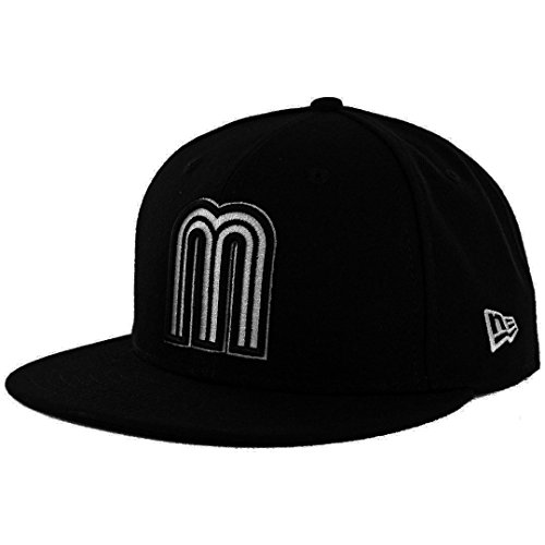 ew Era 59Fifty World Baseball Classic 2017 Mexico (Black/White) WBC Fitted Cap (7 1/8)