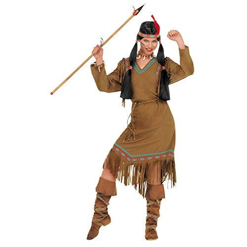 Widmann 43364 volwassen kostuum Indiane, dames, beige, XXL