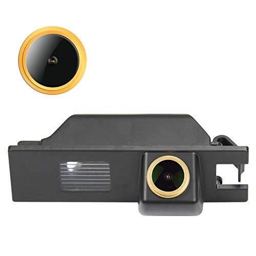 HD D'oro Telecamera per retromarcia (1280x720p) Telecamere posteriori impermeabile Visone Notturna Retrocamera per OPEL Astra H/Corsa D/Meriva A/Vectra C/Zafira B,FIAT Grande