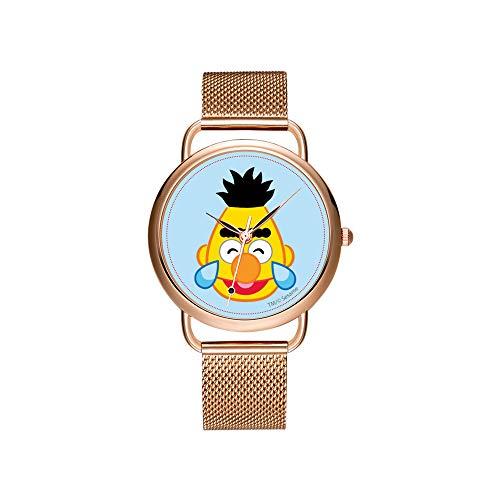 Frauen Uhren Marke Damen Mesh Gürtel ultradünne Uhr wasserdichte Uhr Quarzuhr Weihnachten Berry Desserts Armbanduhren