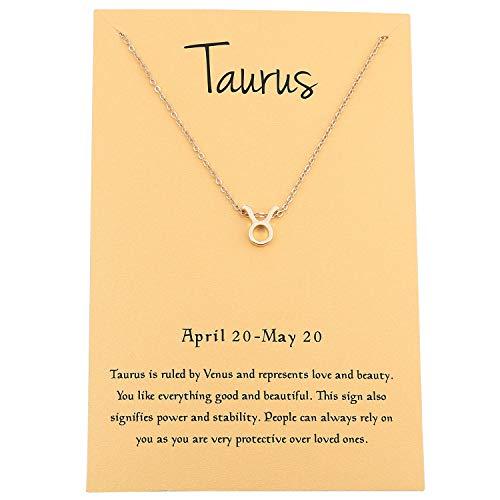 "Zealmer Cyberny Women 16K Gold Plated Taurus Pendant Necklace 18"""