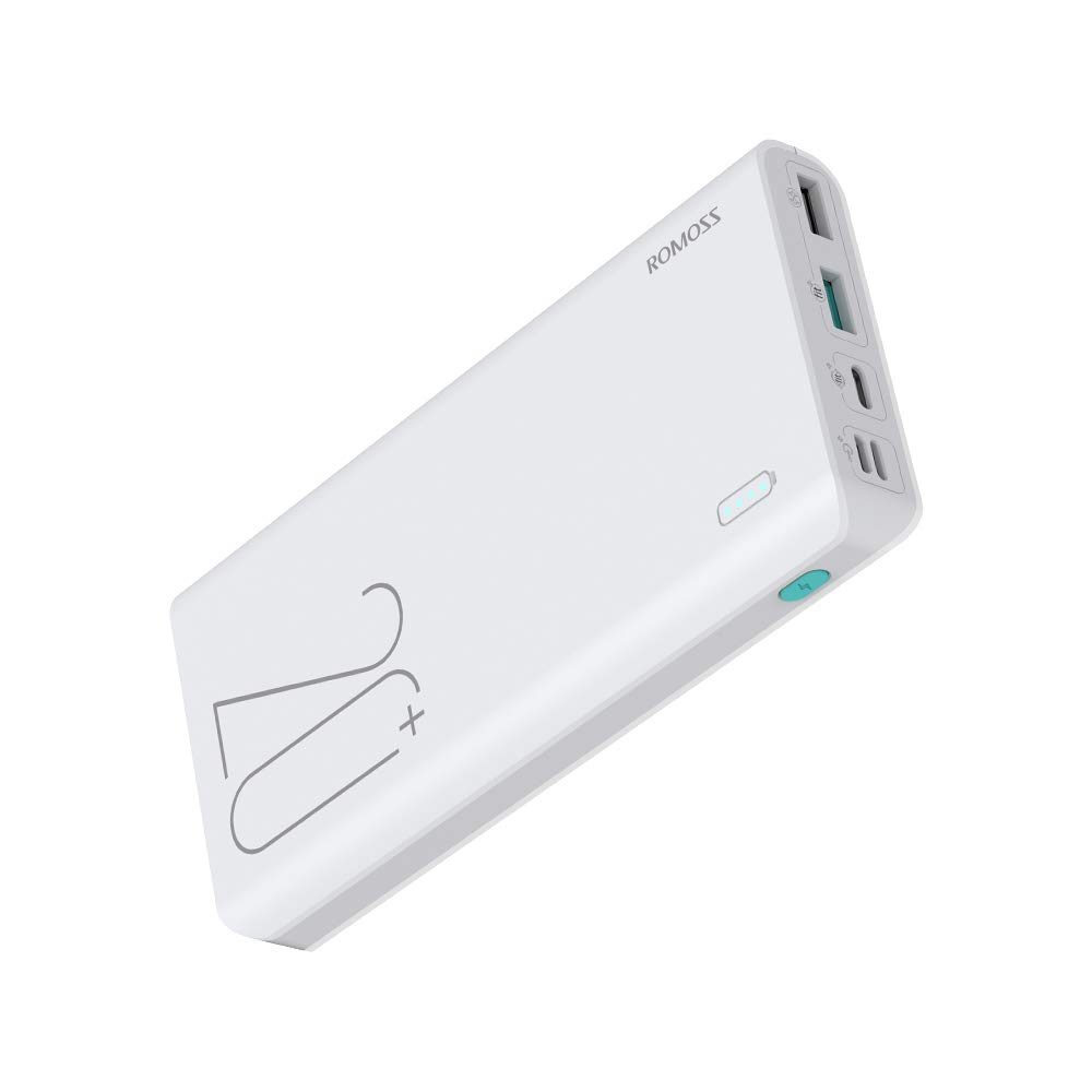 QS 05-5000 LG More ROMOSS 5000mAh Portable Charger White Small Power Bank Built-in Charge Cables Compatible iPhone X//XS Max iPhone 8//7//6 Samsung Galaxy A5//J5 2016