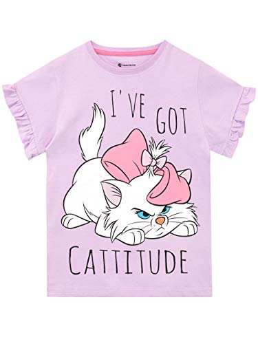 Disney - T-Shirt - Aristocats - Fille - Violet - 5-6 Ans