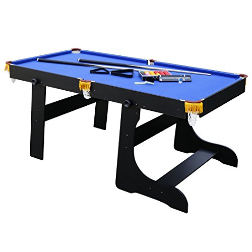 hlc 6FT Folding Blue Billiards Snooker/Pool Table With Balls And Other Accessories
