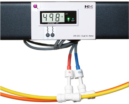HM Digital Num zomer DM-2 EC Commercial Inline, dubbele, elektrisch, leiding, EC-monitor, die kan worden geïnstalleerd op systeem en filtratie van industrieel water zoals wastafels, glasreiniging, productie en verwerking van levensmiddelen enz.