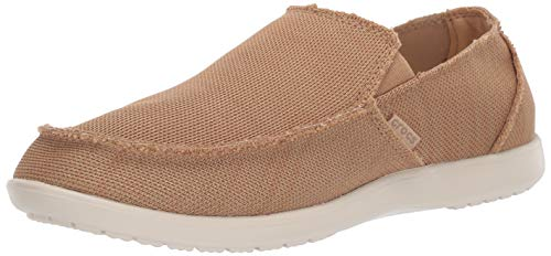 Crocs Men's Santa Cruz Downtime Slip On Loafer|Casual, Comfortable Travel Shoe Tan, 13 M US