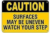 警告注意注意安全標識メタル、注意サーファックはあなたの足跡をレトロに見ることができないかもしれません、男の洞窟ステッカー屋内ステッカー屋内ホームプラークシックなポスター