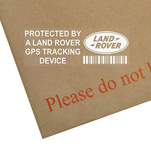 Platinum Place - Pegatinas para ventanillas (5 unidades), diseño con texto en inglés 'Protected by a Land Rover GPS Trackign Device', colo transparente