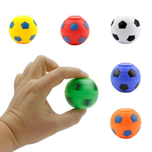 Entervending Spinner Balls 1.4''- Soccer Balls Assorted Colors Spinners - Fidget Toy Balls in Bulk, 50 pcs