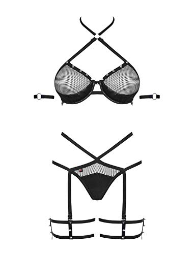 Obsessive Damen Erotik-Netz-Dessous-Set L/XL