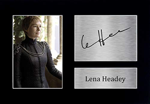 HWC Trading Lena Headey A4 Sin Marco Regalo De Visualización De Fotos De Impresión De Imagen Impresa Autógrafo Firmado por Game of Thrones Ventiladores De Programa De TV