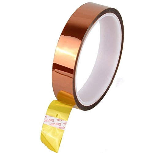 Heat High Temperature Resistant Adhesive Gold Tape for Electric Task 30m 12mm