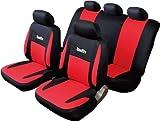 Fundas de Asiento de Coche universales - Modelo Recife - con Bordado estilizado, Asiento Trasero Divisible con Cremallera - airbag Compatible