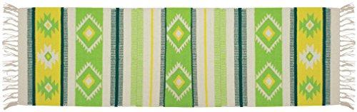 Gelco Design Navajo Tapis de Bain 45X120, Coton, Greenery, 120 x 45 x 0,5cm