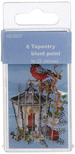 TSL Aiguilles Tapisserie Point Blunt, 40 mm, argenté, Lot de 6