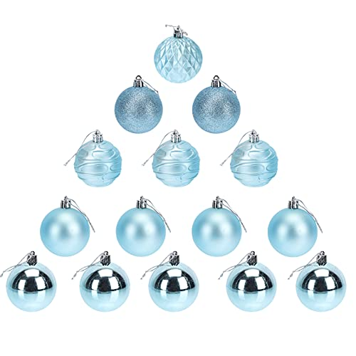 ABOOFAN 24Pcs Blu Palle Di Natale Ornamenti Albero di Natale Balls Hanging Bagattella Negozio di Decorazione di Cerimonia Nuziale Del Partito di Festa Ornamenti per La Finestra Del