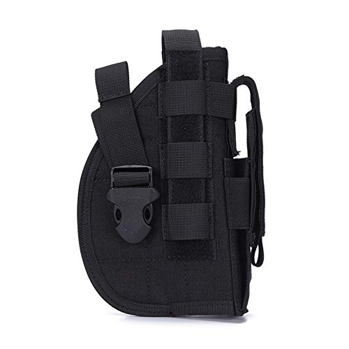 SexyMonkey Pistol Holster Gun Holsters, Molle Holster with Magazine Pouch, Tactical Holsters for Pistols, Universal Adjustable Molle Pistol Holster for 9mm 1911 45 92 96 p226 Glock(Black)