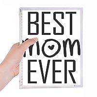 これまでに最高のおかあさんの引用の母の日 硬質プラスチックルーズリーフノートノート