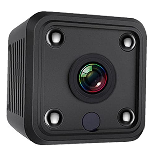 Tuimiyisou Sin Cable Mini cámara HD cámara de vigilancia de Seguridad portátil para Interiores Apartamento Oficina Negro