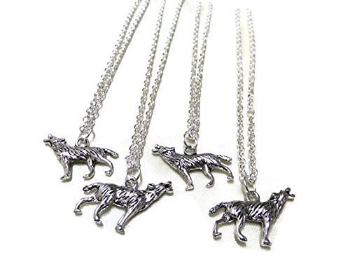 Collana in argento lupo, Lupo, gioielli semplice collana, Lupo fascino animale, collana, collana da uomo, gioielli ragazzi, unisex,