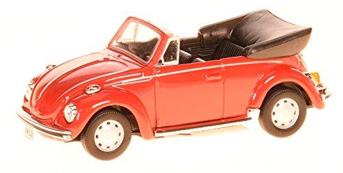 Cararama CARVWKÄFERCABRIO VW Volkswagen Käfer Cabrio Offen Rot 1/43 Modell Auto mit individiuellem Wunschkennzeichen