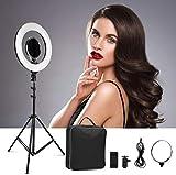 CRAPHY Aro de Luz para Maquillaje y Fotografía 14'/36cm Exterior Ring Light 40W Bi-Color, Kit de...