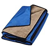 Waterproof Blanket Extra Large for Stadium/Picnic/Camping/Beach and Outdoor Blanket for Couch/Sofa/Bed - All Weather Camping Blanket with Rainproof/Windproof Backing Warm Activities