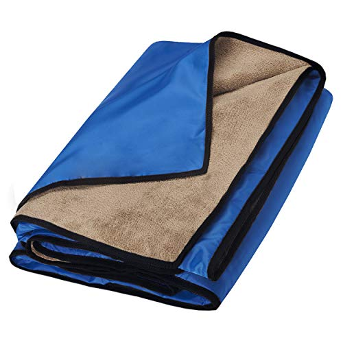 Waterproof Blanket Extra Large for Stadium/Picnic/Camping/Beach and Outdoor Blanket for Couch/Sofa/Bed - All Weather Camping Blanket with...