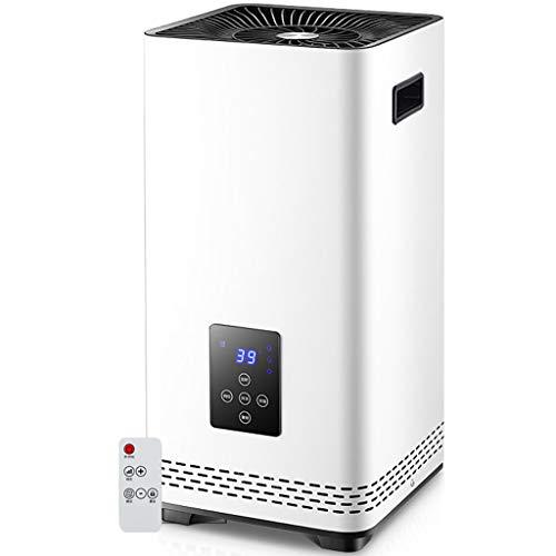 Vertikale Heizlüfter - Tragbare Elektroheizung 2200W - Konvektor Heizkörper Niedrigenergie - Thermostat/Timer - Fernbedienung - LCD-Bildschirm - Mehrfachschutz - Schnelle Heizung - für Hause,White