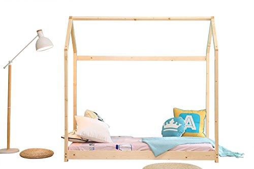 Bestmart INC House Bed Frame Toddler Bed Cabin Bed Floor Bed Children Furniture Nursery Furniture Kids Tent Bed Play Tent Premium Wood