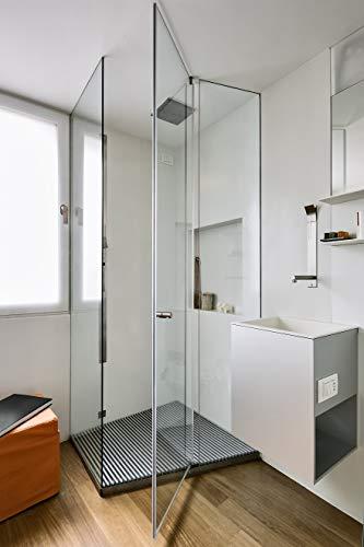 Premium Duschrückwand Fliesensersatz Rückwand für Dusche Wandverkleidung weiß seidenmatt 2000x1000x2
