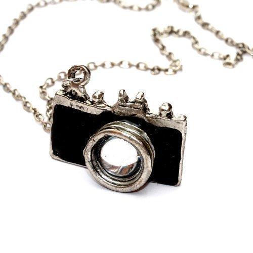 WeAreAwesome Kamera Halskette mit Fotoapparat - ca. 70cm lange Kette - Spiegelreflex Anhänger schwarz DSLR