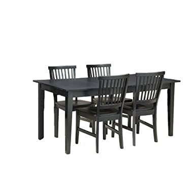 Home Styles 5181-318 Arts and Crafts 5-Piece Rectangular Dining Set, Black Finish