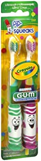 GUM Crayola Toothbrushes Pip-Squeaks Ultrasoft 2 Each (Pack of 4)