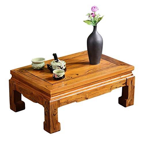Tables basses Meubles lit en Bois Massif Maison Salon Tatami Balcon Chambre Table en Bois, Autonome Tables (Color : Wood, Size : 60 * 40 * 25cm)
