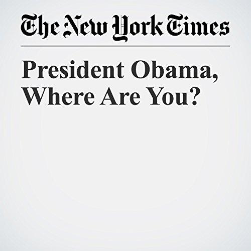 President Obama, Where Are You? copertina